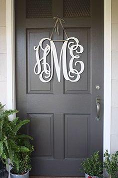 SouthernProperMonograms.com as seen in The Prettiest Front Doors - Front Door Ideas - Oprah.com