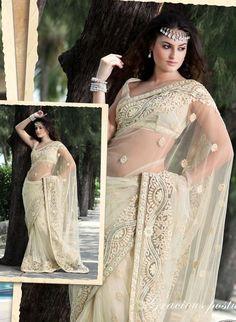 Off white wedding Sari.
