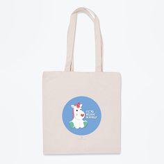 Si quieres que la magia del unicornio te acompañe allá donde vayas, esta bolsa de tela es la prueba de que puedes lograrlo.