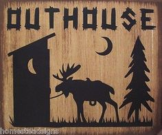 Outhouse-Moose-Lodge-Cabin-Primitive-Country-Distressed-Wood-Sign-Home-Decor