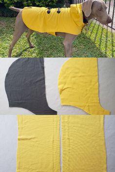 Dog Sweater Pattern, Dog Pattern, Dog Winter Coat, Dog Raincoat, Dog Clothes Patterns, Dog Crafts, Dog Jacket, Diy Stuffed Animals, Pet Clothes