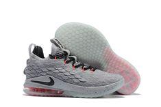 "a7363e680c8 Nike LeBron 15 Low ""Flight Pack"" Cool Grey Black-Teal Tint-Sunset Pulse  AO1755-005"