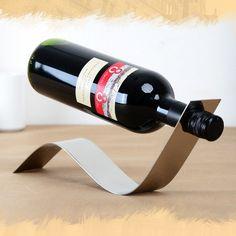 New Creative Red Wine Holder Stemware Rack Bar Show Kitchen Stainless Steel Furniture Fittings Art Make Taste Chopeira Vino
