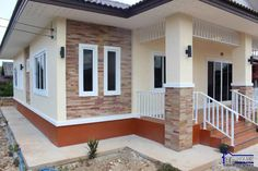 Three-bedroom bungalow with simple design - Ulric Home Simple Bungalow House Designs, Modern Bungalow House Plans, Simple House Design, House Front Wall Design, Philippines House Design, Low Budget House, Philippine Houses, Bungalow Interiors, Three Bedroom House