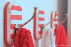 Landee See, Landee Do: DIY Striped Hooks