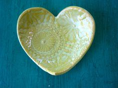 Lace Heart Dish by ShoeHouseStudio on Etsy, $6.00