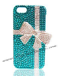 3D Bow Tiffany Case for iPhone 5 Handmade by ilovecrystalsparks, $120.00