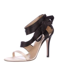 Valentino Satin Bow Accented Sandals fashionable good selling cheap online 7th4sKZHUj