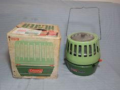 Vintage Coleman Super Catalytic Heater Avocado Green W Box 513A708 #Coleman