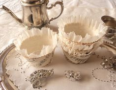 Inspirational Idea! Sheet Music Cakecups~ 12 Antique Sheet Music by AmongstLovelyThings, $20.00