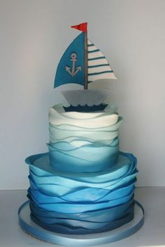 Funny pies bring fairy tales and dreams back to life- Lustige Torten rufen Märchen und Träume wieder ins Leben Funny pies call fairy tales and dreams back to life … - Birthday Celebration Quotes, Ocean Cakes, Nautical Cake, Nautical Theme, Cake Name, Homemade Birthday Cakes, Baby Shower Cakes For Boys, Funny Cake, Themed Wedding Cakes