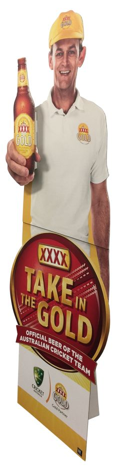 Standee with pop-out hand and bottle...  Find us at:  sales@presfast.com.au