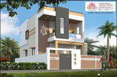 House Outer Design, Duplex House Design, House Front Design, Modern House Design, Building Elevation, House Elevation, Building Exterior, 3d Design, House Colors
