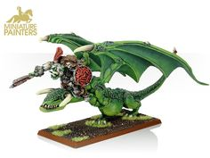 o&g orc warboss on wyvern heavy metal (gold) quality