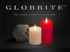 Modern Flameless LED Candles, the #Globrite Candles. #flamelesscandles
