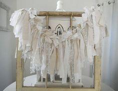 shabby chic garland rag garland vintage inspired by ShabbyRoad