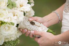 vintage key bridal bouquet