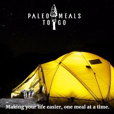 Go camping with your kids.  Even the picky eaters love Paleo Meals To Go when they are good and hungry! #camping