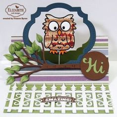 Pop it Up Wednesday with Frances - Owl Flying Easel