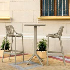 Resin Furniture, Outdoor Furniture, Outdoor Bar Sets, Bistro Set, Dining Set, Bar Stools, Taupe, Indoor, Latest Generation