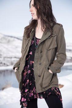 Free People Voile Trapeze Slip OB405008   Photoshoot   Fashion 2017   Style   FPME   Military Jacket   Colorado
