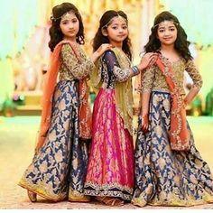 Kids Lehenga Choli Designs For Weddings In 2019 Wedding Dresses For Kids, Little Girl Dresses, Girls Dresses, Choli Designs, Pakistani Wedding Dresses, Pakistani Dress Design, Wedding Lehnga, Frock Design, Party Wear Dresses