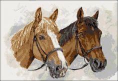 Two champion horses cross stitch   Yiotas XStitch