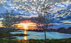 """The original for Texas Twilight measured 36"""" tall by 60"""" wide, and is in a private collection. For reproductions of this painting on paper, canvas, wood, metal or even household goods like pillows, tote bags and phone cases,clickhere."""