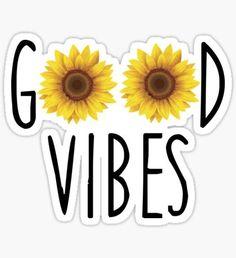 Pegatina Good Vibes