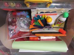arts & crafts busy box - perfect for when kids need to play independently