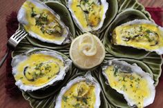 Baked Oysters with Bacon and Parmesan Cheese - Yields 6 Servings