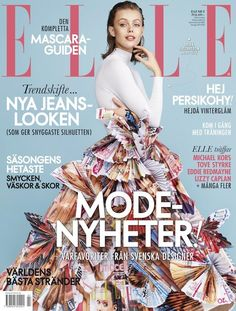 Elle Sweden February 2015 Cover | Frida Gustavsson by Jimmy Backius | Styled by Cia Jansson #Covers2015