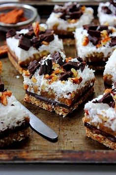 Paleo magic cookie bars.