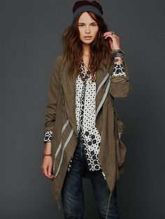 Free People Twice Zipped Hooded Jacket, $298.00