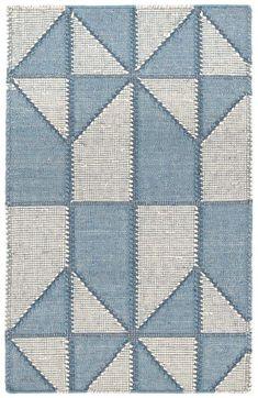 Ojai Blue Loom Knotted Cotton Rug | Dash & Albert
