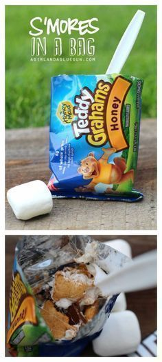 DIY Camping Hacks - S'mores In A Bag Campfire Treat - Easy Tips and Tricks, Recipes for Camping - Gear Ideas, Cheap Camping Supplies, Tutorials for Making Quick Camping Food, Fire Starters, Gear Holders and More http://diyjoy.com/diy-camping-hacks #campin