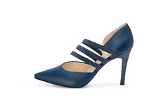 This elegant shoe has a 85mm high heel and features a sleek design and elegant color Notte Blue. Delicate straps stretch band for a secure fit, from PETER KAISER SPRING / SUMMER 2016 Collection - Dana (blue)