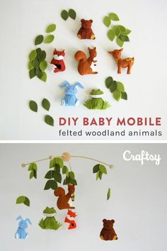 Perfect beginner sewing project alert! These soft and adorable woodland animals make an adorable addition to any nursery. Get the downloadable baby mobile pattern at Craftsy.