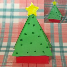 Small Christmas Tree Favor Box - Finished