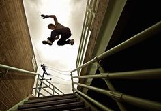 """Parkour -  According to Webster's, the sport involves """"traversing environmental obstacles by running, climbing or leaping rapidly and efficiently.""""   NO THANKS"""