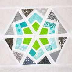 Purple Panda Quilts: 3x6 Hexagon Blocks oct blog