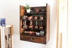 Cordless Tool Charging Station with plans