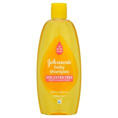 Johnson's Baby Shampoo 300ml. No more tears baby shampoo - gentle formula for newborns. Soap-free and clinically proven hypoallergenic + 50% extra free.