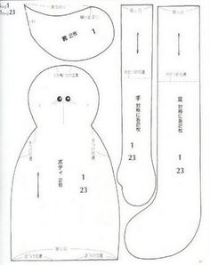 The Laury chorradikas: Japanese doll pattern Model 2