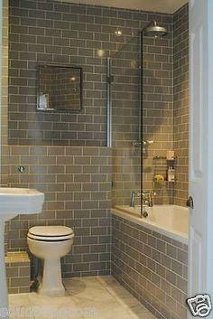 Bad Inspiration, Bathroom Inspiration, Family Bathroom, Master Bathroom, Bathroom Grey, Metro Tiles Bathroom, Master Baths, Classic Bathroom, Kitchen Tiles
