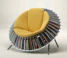 Uma poltrona ou uma estante para livros?