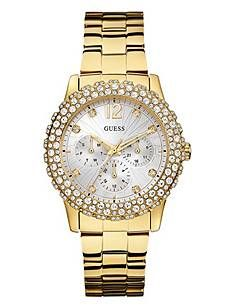 Gold-Tone Shimmering Sport Watch | GUESS.com  98.00 not out of stock
