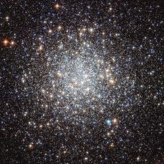 Globular star cluster Messier 9 (M9) has over 300,000 stars within a diameter of about 90 light-years. It is 25,000 light-years from Earth, near the central bulge of our Milky Way galaxy in the constellation of Sagittarius. Imagine the night sky on a planet orbiting one of these stars!