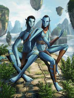 Jake and Tsu'tey by HawkeyeWong on DeviantArt Avatar Films, Avatar Movie, Alien Avatar, Avatar James Cameron, Avatar Babies, Avatar Poster, Avatar Cosplay, Avatar Fan Art, Fantasy Races