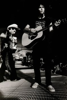 Nils Lofgren and Neil Young, 1982